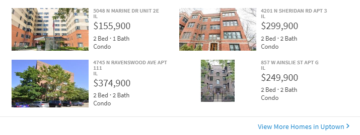 Rental apartments in Uptown
