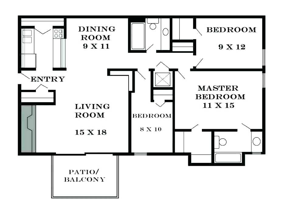 The Average Room Size In A House